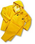 West Chester 4035FR Yellow Large Polyester/PVC Rain Suit - 2 Pockets - Fits 54 in Chest - 29 in Inseam - 662909-403407