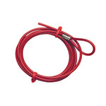 Brady Red Cable Lockout Device 45349 - 6 ft Length - 754476-45349