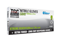 The Glove Company TGC WorkGear Gray Large Nitrile Disposable Gloves - 24 in Length - Textured Finish - 8 mil Thick - 162603