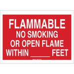 Brady B-302 Polyester Rectangle Red No Smoking Sign - 10 in Width x 14 in Height - Laminated - 88413