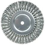 Weiler Steel Wheel Brush 0.023 in Bristle Diameter - Arbor Attachment - 8 in Outside Diameter - 5/8 in Center Hole Size - 08155
