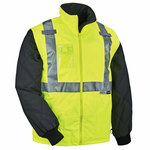 Ergodyne GloWear 8287 Lime Large Polyester Cold Condition Jacket - 2 Pockets - Thinsulate Insulation - 720476-25494