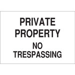 Brady B-120 Fiberglass Reinforced Polyester Rectangle White Restricted Area Sign - 14 in Width x 10 in Height - 71293