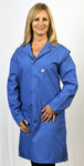 Tech Wear Large Blue Lapel ESD / Anti-Static Lab Coat - 371ACS-L