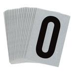 Brady Bradylite 5900-0 Black on Silver Number Label - Outdoor - 1 in Width - 1 1/2 in Height - 1 in Character Height - B-997