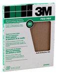 3M Aluminum Oxide Brown Sand Paper Sheet - 9 in Width x 11 in Length - 60 Grit - Coarse - 88591