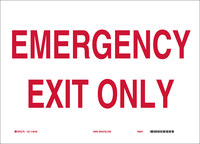 Brady B-302 Polyester Rectangle White Emergency Exit Sign - 10 in Width x 7 in Height - Laminated - 84663