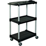 Audio/Video Cart - 19 in x 32 in x 42 in - Aluminum Uprights/Metal Reinforced Shelves
