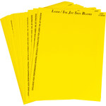 Brady 12904 Yellow Polyester Ink-Jet, Laser Printable Label - 7 in Width - 5 in Height - B-744