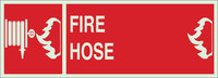 Brady Bradyglo B-324 Polyester Rectangle Fire Equipment Sign - 14 in Width x 5 in Height - 90558
