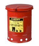 Justrite Red Steel 6 gal Safety Can - 15 7/8 in Height - 11 7/8 in Overall Diameter - 697841-00223