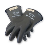 Chicago Protective Apparel LRIG Black Large Rubber Work Gloves - 11 in Length - CPA LRIG-00-11 LG