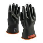 PIP Novax 155-0-11 Black/Orange 9 Rubber Work Gloves - 11 in Length - Smooth Finish - 155-0-11/9