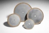 3M 605Y Diamond 1A1R Cutoff Wheel - 40 Grit Coarse Grade - 4 in Diameter - 1/2 in Center Hole - 0.104 in Thickness - 90642