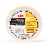 3M 394 White Cloth Tape - 1 in Width x 36 yd Length - 4 mil Thick - 68836