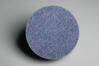 3M Scotch-Brite GB-DM Non-Woven Ceramic Blue Quick Change Disc - Coarse - 3 in Diameter - 60377