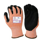 Armor Guys ExtraFlex HCT 04-400 Orange/Black Large Engineered Yarn Cut-Resistant Gloves - ANSI 4, EN 388 5 Cut Resistance - Nitrile Foam Palm & Fingers Coating - 04-400-L