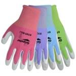 Global Glove Gripster 570T Large Nylon Work Gloves - Nitrile Palm & Fingers Coating - 570T/LG