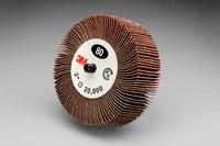 3M 244D Coated Aluminum Oxide Flap Wheel - X Weight - 1 in Face Width - 3 in Diameter - 14608