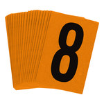 Brady Bradylite 5910-8 Black on Orange Number Label - Outdoor - 1 in Width - 1 1/2 in Height - 1 in Character Height - B-997