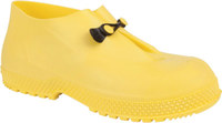 Servus SF 11994 Yellow Large Waterproof & Rain Overboots/Overshoes - 4 in Height - Leather/PVC Upper and Rubber Sole - 11994 SZ LG
