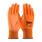 PIP G-Tek GP 33-425OR Orange Large Nylon Work Gloves - EN 388 1 Cut Resistance - Polyurethane Palm & Fingers Coating - 9.3 in Length - 33-425OR/L