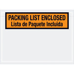 Shipping Supply Tape Logic Orange Bilingual Envelopes - 7 1/2 in x 5 1/2 in - 2 mil Thick - SHP-13304
