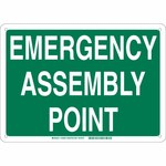 Brady B-120 Fiberglass Rectangle Green IMO Evacuation Sign - 14 in Width x 10 in Height - 139640