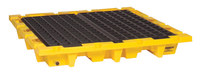 Eagle Yellow High Density Polyethylene 6000 lb 66 gal Spill Pallet - Supports 4 Drums - 58 1/2 in Width - 58 1/2 in Length - 7 3/4 in Height - 048441-60150