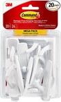 3M 17001-MPES Plastic White Hooks - 99311