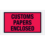 Shipping Supply Tape Logic Red Important Papers Enclosed Envelopes - 5 1/2 in x 10 in - 2 mil Thick - SHP-13071