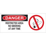 Brady B-120 Fiberglass Reinforced Polyester Rectangle White No Smoking Sign - 17 in Width x 7 in Height - 70509