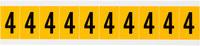 Brady 15 Series 1530-4 Black on Yellow Vinyl Number Label - Indoor / Outdoor - 7/8 in Width - 1 1/2 in Height - 1 in Character Height - B-946