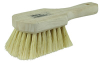 Weiler 440 Utility Scrub Brush - White Tampico Bristle - Hardwood Block - 8 in Overall Length - 44014