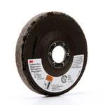 3M Scotch-Brite CP-UD Aluminum Oxide Deburring Disc - Medium Grade - Arbor Attachment - 4 1/2 in Diameter - 7/8 in Center Hole - 29205