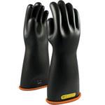 PIP Novax 155-2-16 Black/Orange 12 Rubber Work Gloves - 16 in Length - Smooth Finish - 155-2-16/12