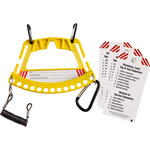 Brady 148865 Yellow Safety Lock and Tag Carrier - 7.75 in Width - 5.75 in Height - LOTO-88