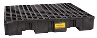 Eagle Black High Density Polyethylene 8000 lb 66 gal Spill Pallet - Supports 4 Drums - 51 1/2 in Width - 51 1/2 in Length - 8 in Height - 048441-00471