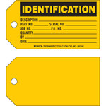 Brady 86740 Black on Yellow Cardstock Production Status Tag - 5 3/4 in Width - 3 in Height - B-853