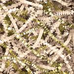 Shipping Supply PreciousMetal Gold/Vanilla Crinkle Paper - SHP-11570