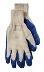 Brahma Gloves WA83 Blue Large Seamless Knit Work Gloves - Latex Palm Only Coating - Smooth Finish - WA8301A