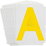 Brady Quik-Align 5150-A Yellow Vinyl Letter Label - Outdoor - 4 in Height - 4 in Character Height - B-933