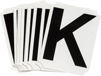 Brady Quik-Align 8215-K Black Vinyl Letter Label - Outdoor - 3 in Height - 3 in Character Height - B-933