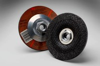 3M Standard (Type 27) Aluminum Oxide Depressed-Center Wheel - 24 Grit - Very Coarse Grade - 4 1/2 in Diameter - 1/4 in Thick - 92314