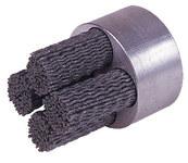 Weiler Silicon Carbide Bristle Disc - Very Fine Grade - Shank Attachment - 1 3/4 in Outside Diameter - 0.035 in Bristle Diameter - 85753