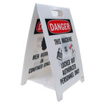 Brady B-836 Polypropylene Rectangle White Floor Stand Sign - 12 in Width x 20 in Height - 92289