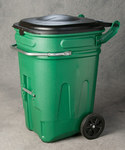 Eagle Green HDPE Waste Cart - 30 in Width - 26 in Length - 44 in Height - 048441-00882