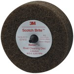 3M Scotch-Brite Non-Woven Aluminum Oxide Brown Quick Change Disc - Medium - 4 in Diameter - 1 1/4 in Center Hole - 07410