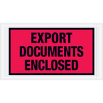 Shipping Supply Tape Logic Red Transportation Envelopes - 5 1/2 in x 10 in - 2 mil Thick - SHP-13072
