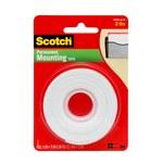 3M Scotch 110 Foam Mounting Tape - 1/2 in Width x 75 in Length - 01053
